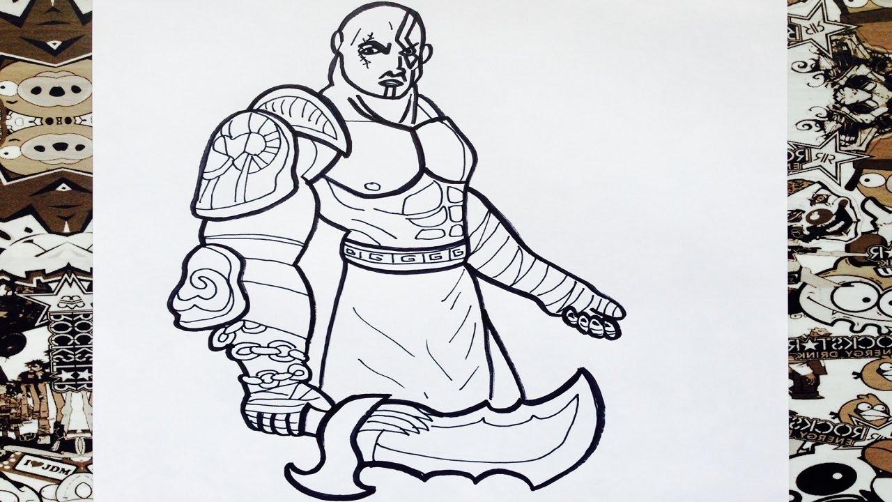 Como Dibujar A Kratos How To Draw Kratos Como Desenhar O Kratos Youtube
