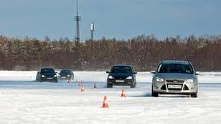 Полигон ФСО   контраварийное вождение в условиях зимы