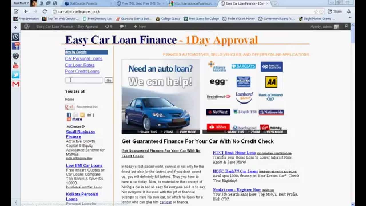 Guaranteed Car Loan No Credit Check