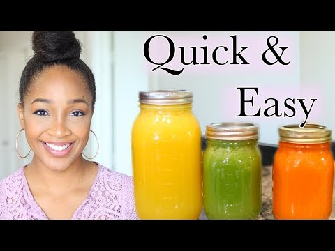 Simple Juice Recipes For Beginners + Juicing 101 | JUICING WITH DREA