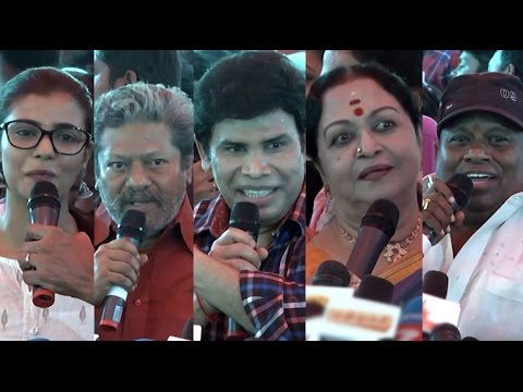 Actors, Actress Speech in  Nadigar Sangam Building Stone Laying Ceremony | Vishal,