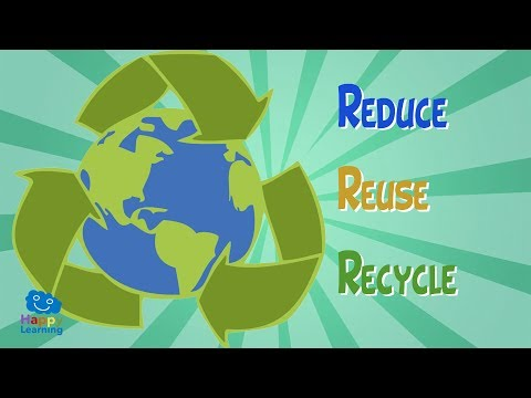 Reduce, Reuse and Recycle, to enjoy a better life | Educational Video for Kids.