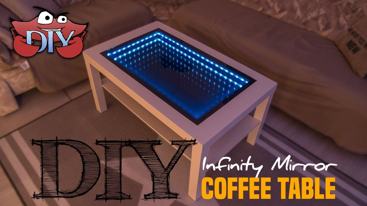 Material Coffee Table.Diy Infinity Mirror Coffee Table