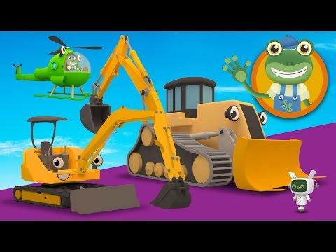 Mia The Mini Digger Visits Gecko's Garage | Construction Trucks For Children