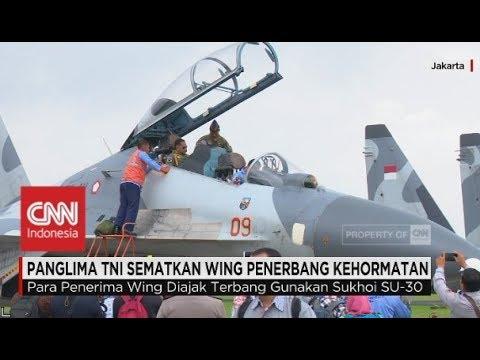 Kapolri Jajal Pesawat Tempur Sukoi SU-30 Milik TNI AU