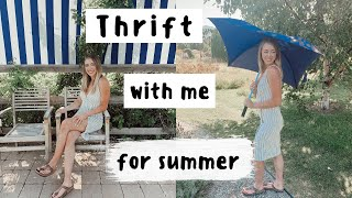 Come thrift with me for cute summer clothes!