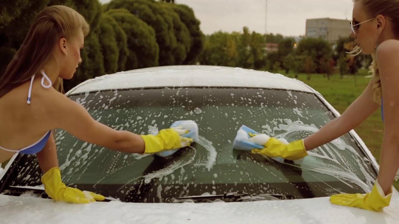 Girl nude girl masterbates in car wash video one piece