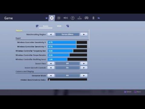 All Best Fortnite Settings In Season 7 X Y Sensitivity Control Binds Xbox Ps4 Youtube