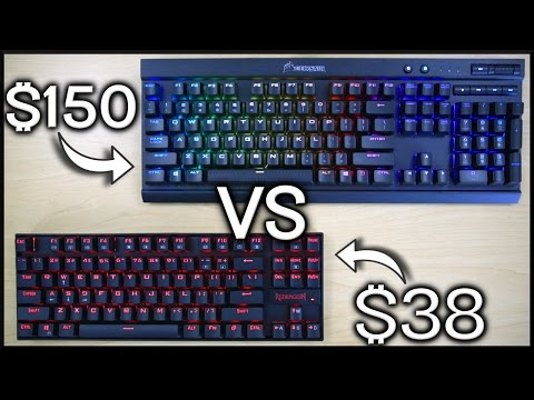 $38 vs $150 Mechanical Gaming Keyboard!