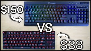 38 vs 150 mechanical gaming keyboard