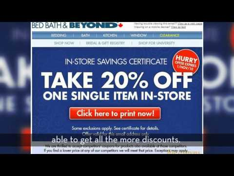 Bed Bath And Beyond Coupon Zone