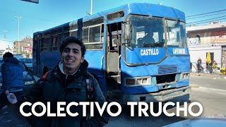 Viajando en un Colectivo TRUCHO + MI ASIENTO ES UNA RUEDA!