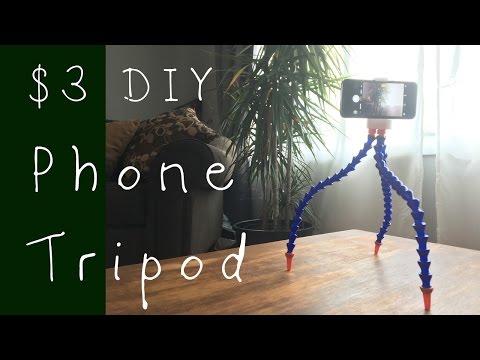 $3 DIY Phone Tripod! ( 3d Printed)