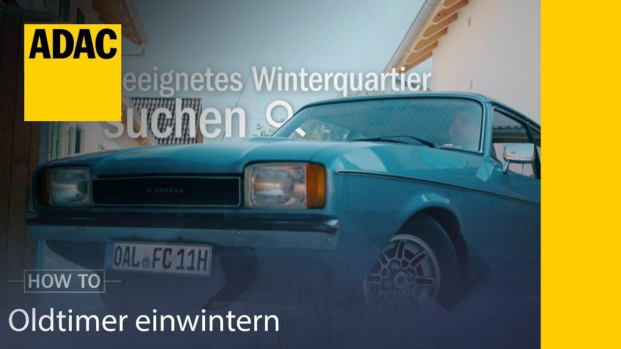 adac how to oldtimer einwintern adac youtube. Black Bedroom Furniture Sets. Home Design Ideas