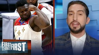 Zion is fully unleashed, I'm not surprised at his success — Nick Wright | NBA | FIRST THINGS FIRST