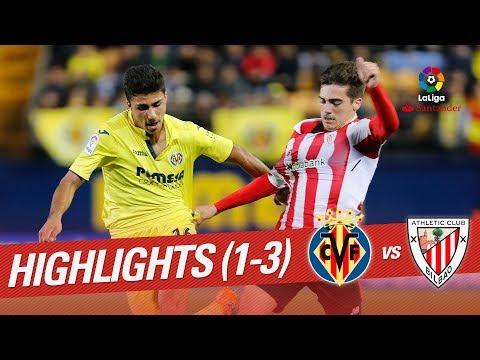 Resumen de Villarreal CF vs Athletic Club (1-3)