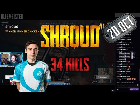 Shroud 34 Kill Game (NEW RECORD)
