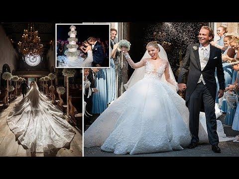 Victoria Swarovski, marries property mogul in lavish Italian wedding (and wears a £700k dress)