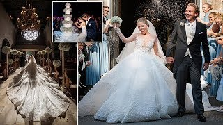 Victoria Swarovski, marries property mogul in lavish Italian wedding (and wears a £700k dress)