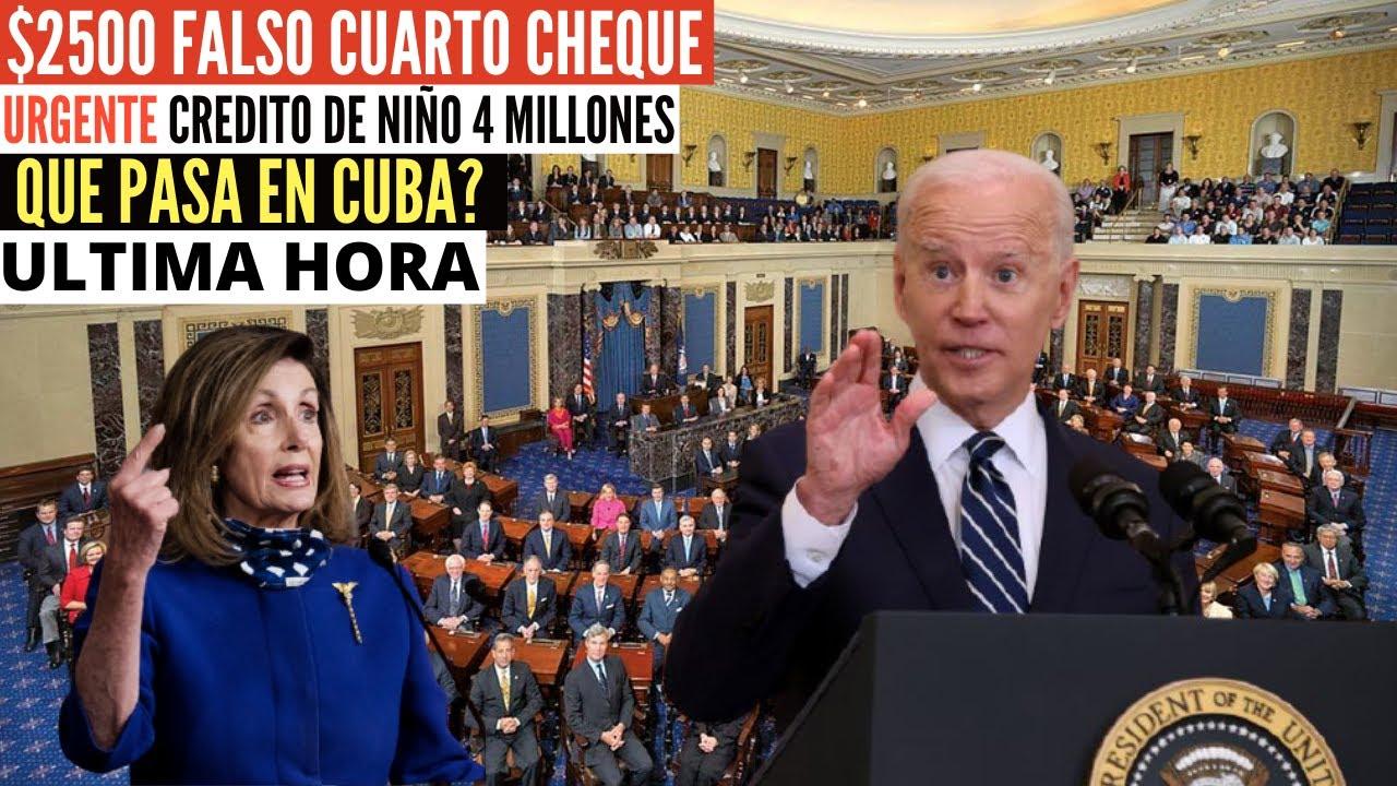ULTIMA HORA $2500 Falso cuarto cheque de estímulo - Noticias crédito de niño y situación en Cuba