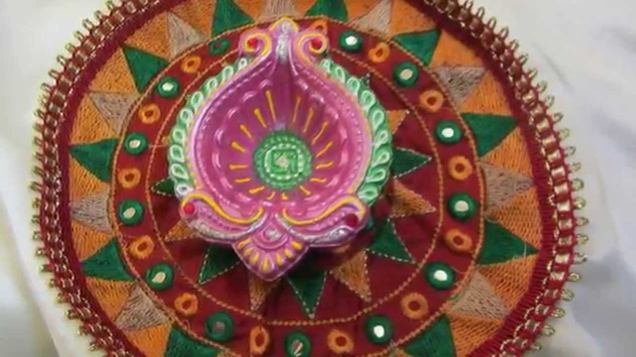 Diwali decorative diyas 2014 youtube for Diya decoration youtube