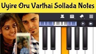 Uyire Oru Varthai Sollada Piano Notes | Tamil Album Songs