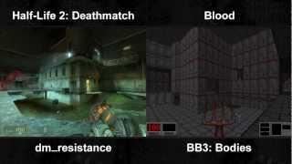Half-Life 2: Deathmatch / Blood - DM_Resistance / Bodies Comparison