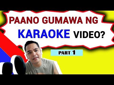 How To Make Karaoke Video  Part 1/4