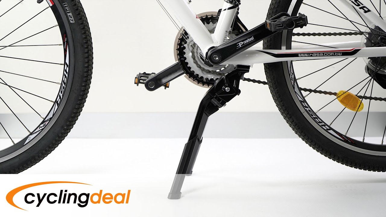"""Cycling Mountain Bike Bicycle Double Leg Kick Stand Mount For 24/""""-28/"""" Black New"""