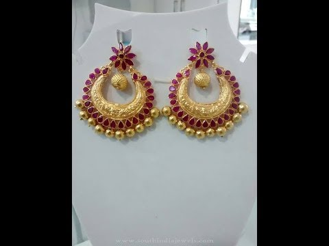 Latest gold earrings designs with weight | gold jhumkas designs