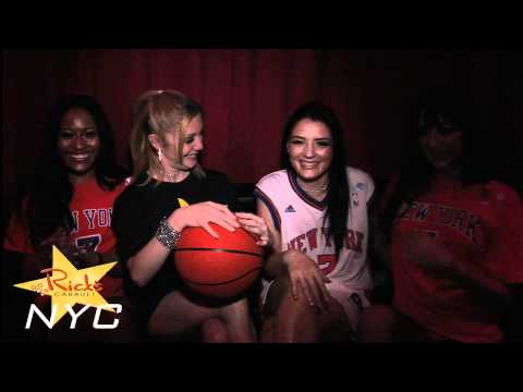 The Girls of Rick's Cabaret NYC Welcome Carmelo Anthony to The Knicks