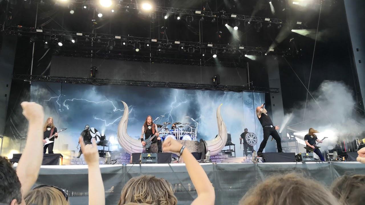 Amon Amarth Shield Wall Raven S Flight Live At Sweden Rock