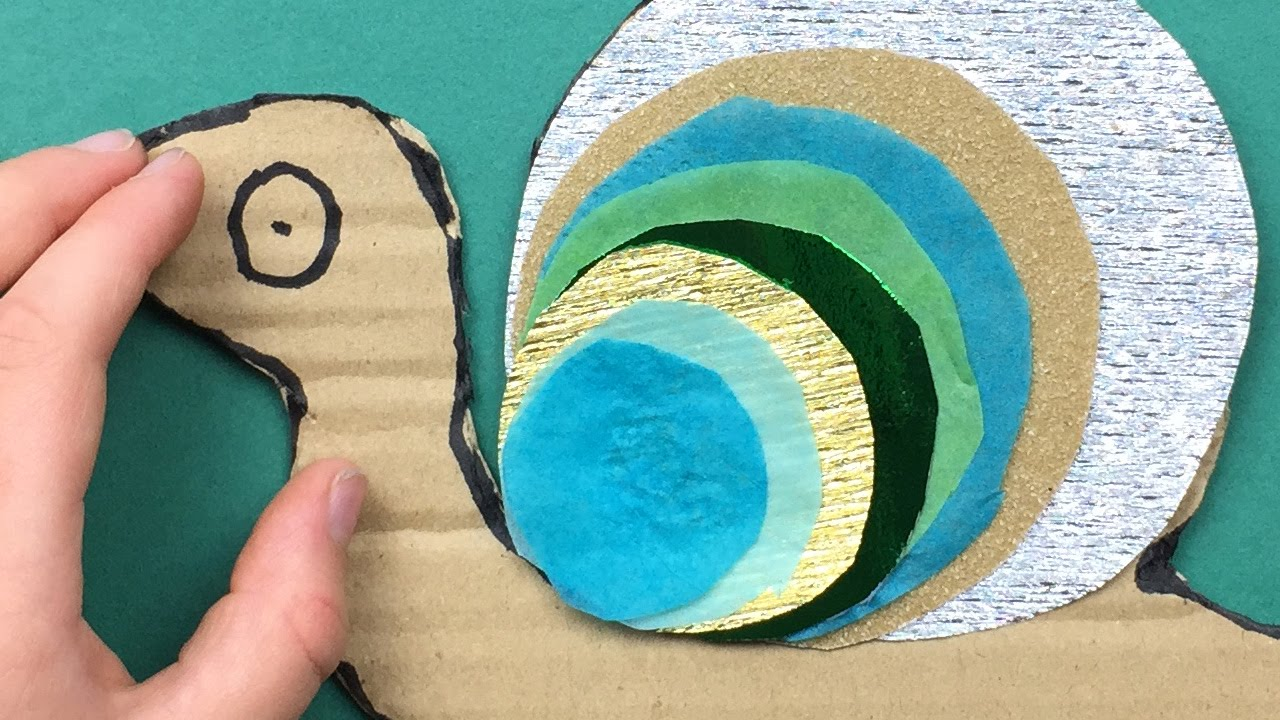 How To Make A Snail Art And Craft Project For Preschool Pre K And