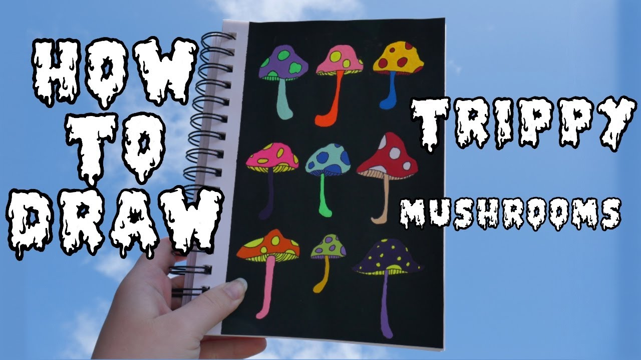 How To Paint Trippy Mushrooms Trippy Painting Tutorial How To Make Trippy Art Acrylic Painting Youtube