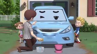 Робокар Поли - мультики про машинки - Правила дорожного движения - Папин рассказ о машинах