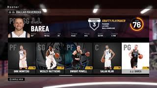 NBA 2K19 Dallas Mavericks Roster