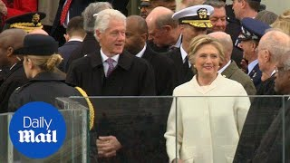 Bill and Hillary Clinton enter Trump's presidential inauguration - Daily Mail