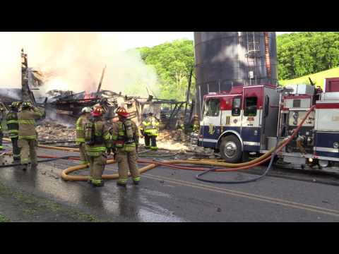 Lehigh Township Fully Involved Barn Fire - 5.27.17