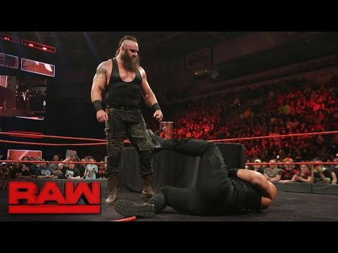 Thumbnail: Roman Reigns and Braun Strowman sign their WWE Fastlane contract: Raw, Feb. 27, 2017