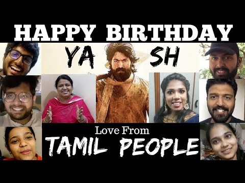 Happy Birthday ROCKING STAR YASH | Love from TAMIL PEOPLE |