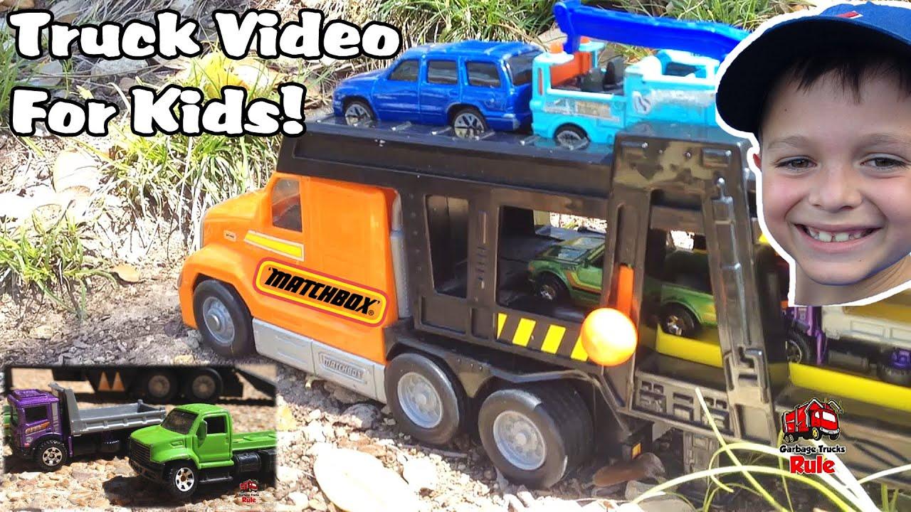 Truck Videos For Children L Toys R Us Matchbox Transporter Truck