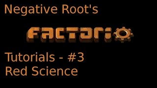 Factorio Tutorial 3   Red Science Automation