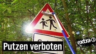 Realer Irrsinn: Verkehrsschilder säubern verboten