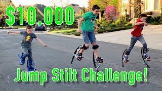 $10,000 Jump Stilt Challenge!!!