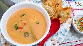 অল্প খরচে সল্প সময় বাসায় তৈরি করতে পারেন রেস্টুরেন্ট স্টাইল থাই স্যুপ | Thai Soup Recipe