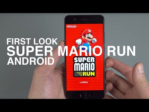 First Look! SUPER MARIO RUN for Android!