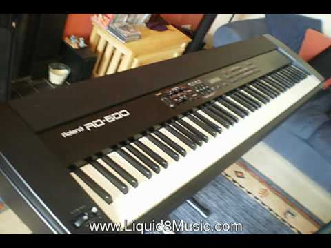 roland rd 600 keyboard piano pre rd700 model ebay auction youtube. Black Bedroom Furniture Sets. Home Design Ideas