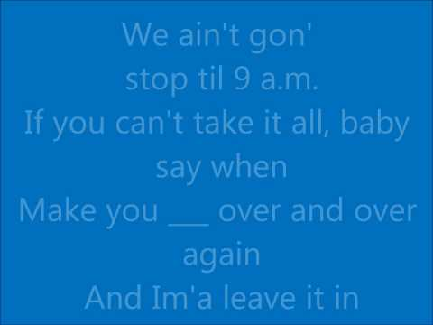 Lyrics: Chris Brown - No Bullshit