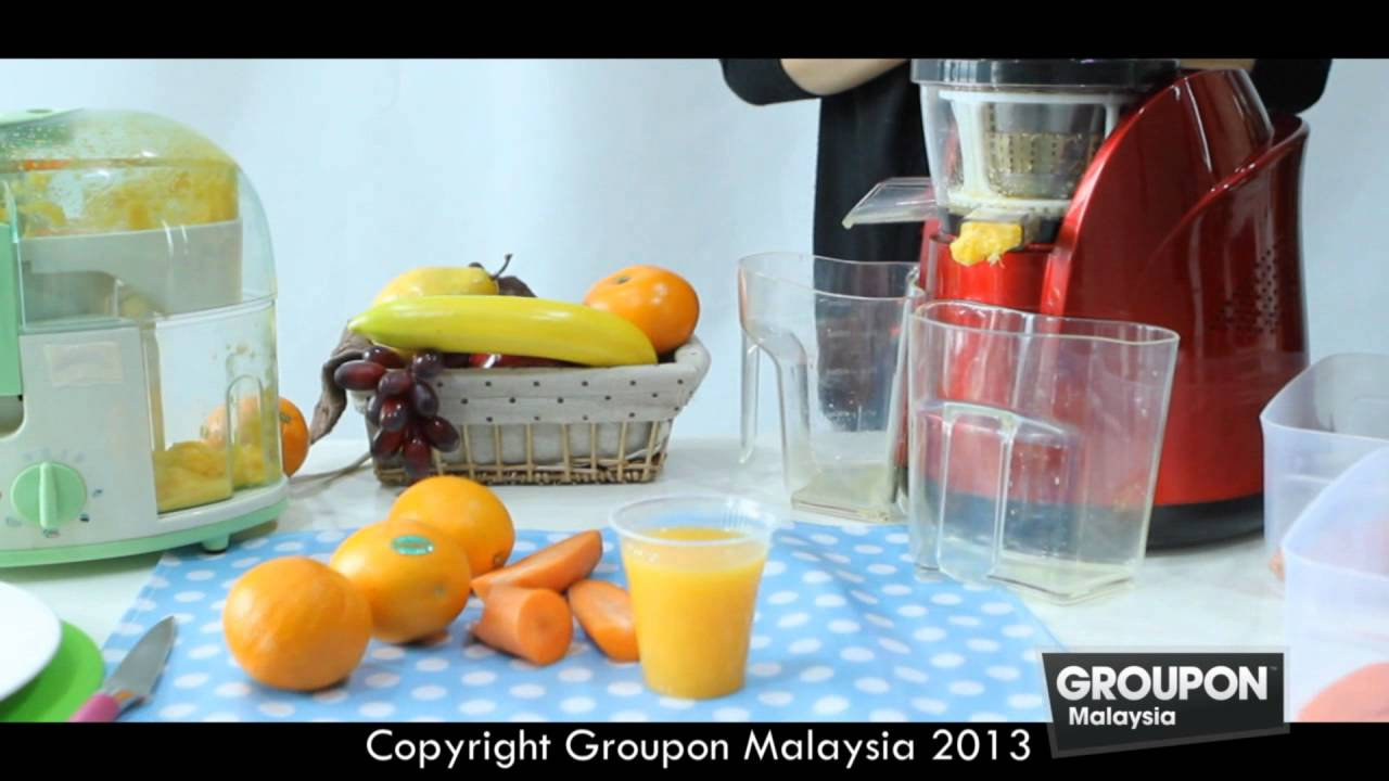 Meyou Slow Juicer Groupon : Groupon Malaysia - Slow Juicer Pure Juice Extractor - YouTube