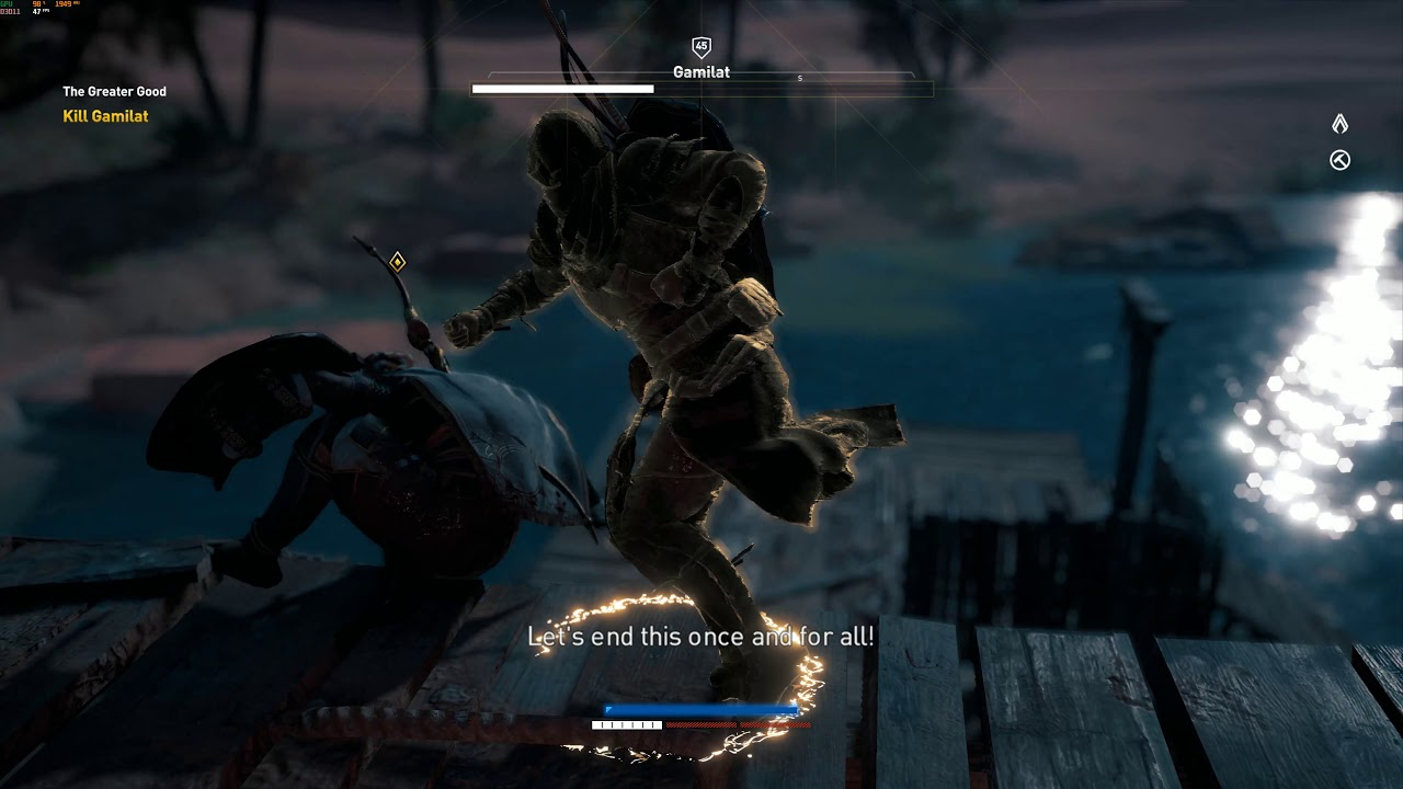 Assassin's Creed Origins Gamilat Fists only, Nightmare, no damage, items/consumables